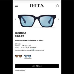 DITA limited edition sunglasses NEW!